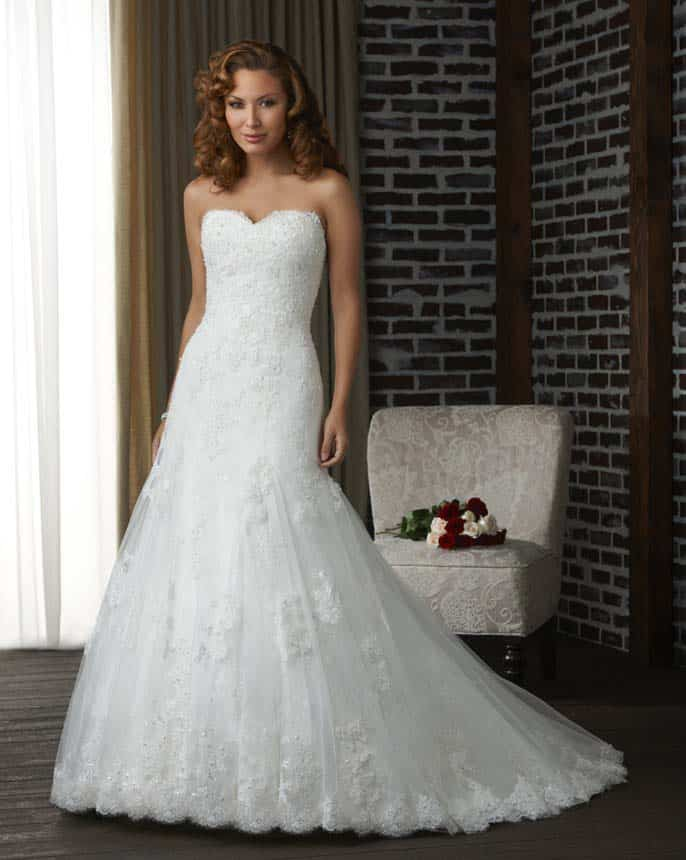 Vestido de Novia - Chantilly Corazon